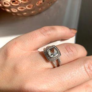 David Yurman Albion Ring - Prasiolite Stone 6.25